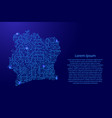 map ivory coast from printed board chip and radio vector image