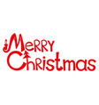 merry christmas sign vector image vector image