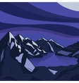 Night mountain Glacial lake landscape vector image vector image