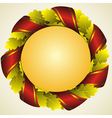 oak golden laurel wreath vector image vector image