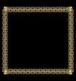 ornate luxurious golden frame in art deco style on vector image vector image