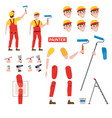 painter profession worker character for animation vector image
