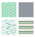 pattern stripe seamless design set for wallpaper vector image vector image