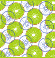 pattern with kiwi vector image vector image