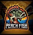 perch fish esport mascot logo design vector image