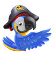 pointing pirate parrot vector image vector image