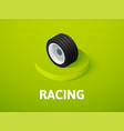racing isometric icon isolated on color vector image vector image