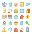 Real Estate Colored Icons 4 vector image vector image