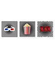 realistic cinema elements collection vector image vector image