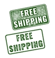 Realistic grunge rubber stamp Free Shipping vector image vector image