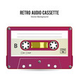 retro audio cassette detailed retro c90 vector image vector image