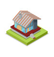 roof installation isometric 3d icon vector image vector image