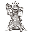 samurai warrior with weapons group ronin vector image vector image