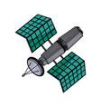 satellite wireless technology world global net vector image
