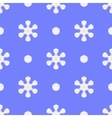 Seamless Blue Snowflake Pattern vector image vector image