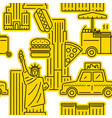 seamless pattern new york city symbol vector image vector image