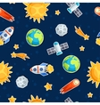 Seamless pattern of solar system planets and vector image vector image