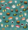 seamless sushi pattern wallpaper background vector image