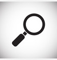 search icon on white background for graphic and vector image