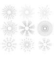set of retro sun rays vintage labels sunburst vector image vector image