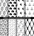 Set of Tribal designs seamless patterns vector image