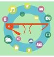 Smart glasses vector image vector image