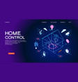 smart home control concept banner vector image vector image