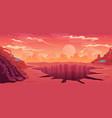 space background alien fantastic landscape with vector image