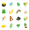 St Patrick Day isometric 3d icons vector image vector image