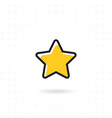 star icon in flat design vector image vector image
