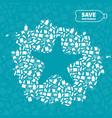 starfish plastic trash planet pollution concept vector image vector image