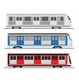 subway train set tube station flat vector image
