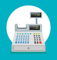 supermarket cash register icon vector image