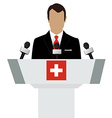 Switzerland speaker concept vector image vector image
