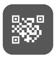 The QR code icon Link and URL symbol Flat vector image