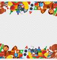 toys frame teddy bear tipper pyramid tumbler vector image vector image