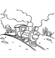 Train Coloring Pictures for Children vector image vector image