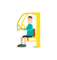 training outside people flat vector image vector image