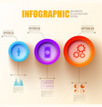 web business infographic template vector image vector image