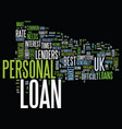 your financial partner personal loan uk text vector image vector image