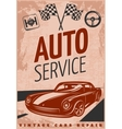 Car Repair Poster vector image