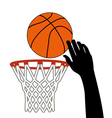 lucky shot of basketball vector image
