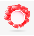 Red heart shaped balloons vector image
