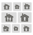 monochrome icons with symbols of home vector image