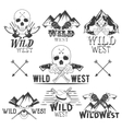 set of wild west badges Isolated emblems vector image