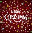 Merry Christmas gold glittering lettering design vector image