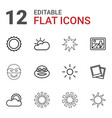 12 sunset icons vector image vector image