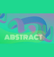 3d abstract fluid shapes landing page template vector image