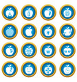 apple logo icons set simple style vector image vector image