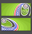 banners for soccer vector image